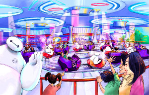 TDLの新アトラクション「ベイマックスのハッピーライド」のイメージイラスト(C)Disney