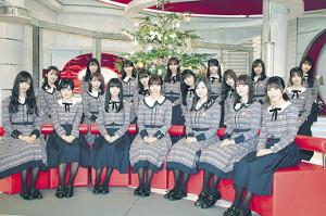 収録後に取材に応じた西野七瀬(前列左から4人目)ら乃木坂46メンバー