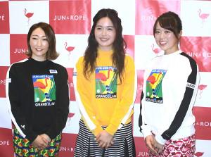 トークイベントに登場した三ケ島かな(中央)、左は飯島茜、右は笹原優美