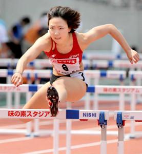 13年、世界陸上の代表選考会・女子100メートル障害に出場した寺田
