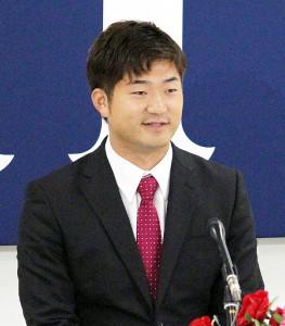 広島・岡田は1300万円アップの年俸5500万円でサイン