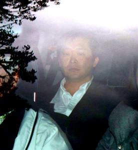 判決を終え、関係者の車に乗って東京地裁を後にする高橋祐也被告