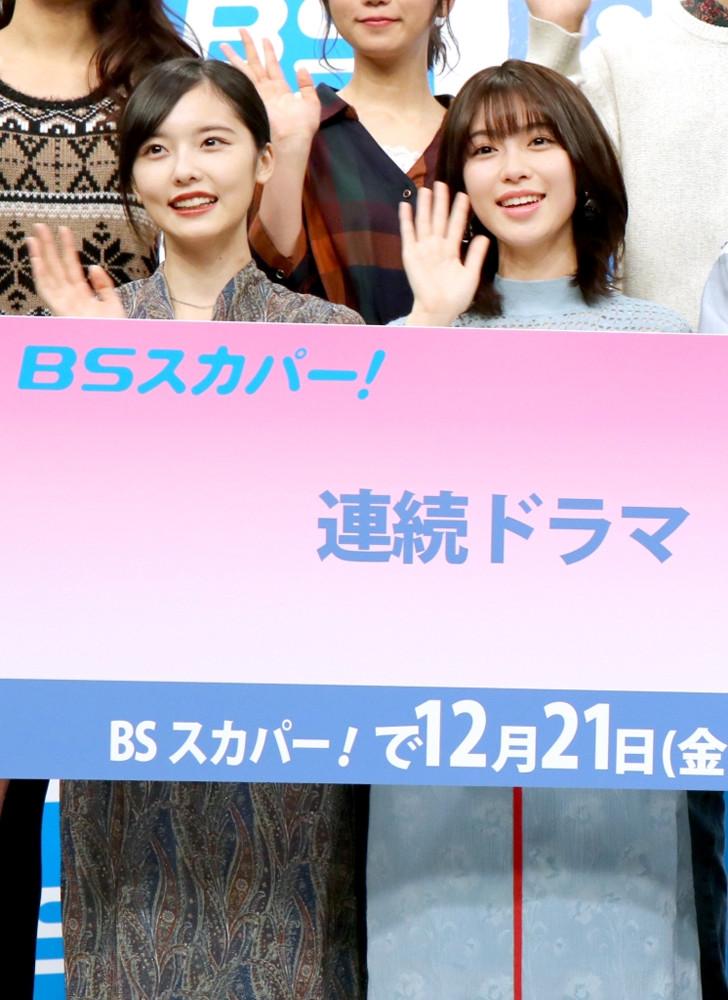 制作発表会に出席した加藤小夏(左)と白石聖