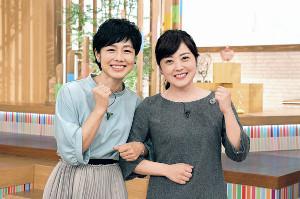 MC初共演した有働由美子キャスター(左)と水卜麻美アナウンサー