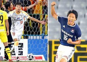 清水・白崎(左)と横浜M・伊藤