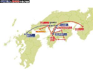 平尾受刑者と樋田被告の逃亡経路