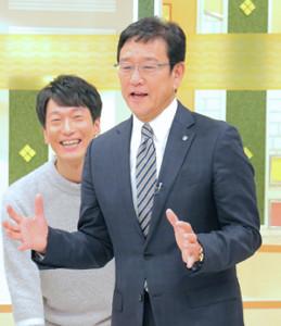 イチモニ!で笑顔を見せる栗山監督。決起集会費用の全額負担を宣言