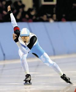 改心の滑りで女子500メートル1回目を2位と好発進した辻