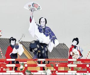 親子3人で共演した(左から)堀越勸玄くん、市川海老蔵、堀越麗禾ちゃん