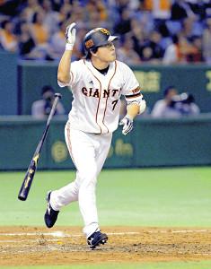 11年10月22日の横浜戦、9回無死満塁から代打出場しサヨナラ本塁打を放った