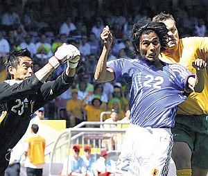 ドイツW杯1次リーグF組。日本・オーストラリア戦に出場したDF中沢佑二