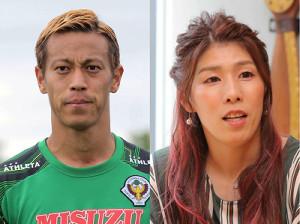 本田圭佑(左)と吉田沙保里