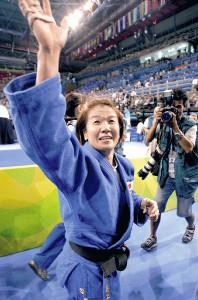 アテネ五輪・女子柔道で優勝した谷亮子さん