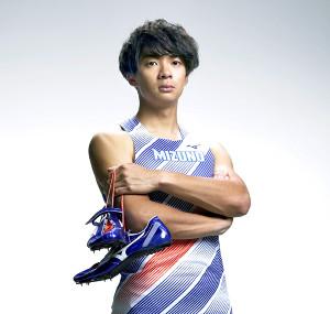 ミズノ入りが決まった陸上男子110メートル障害日本記録保持者の金井大旺