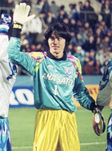 96年、横浜Fで守護神を務めた楢崎