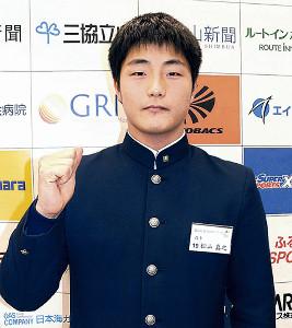 「阪神・藤川投手を超えるような選手に」と目標を語ったBC富山・松山