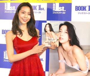 初写真集「Seika」の発売イベントを行った池岡星香