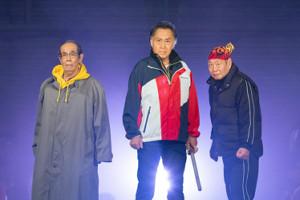 「三匹のおっさん」に出演する(左から)志賀廣太郎、北大路欣也、泉谷しげる(C)テレビ東京