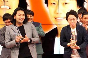 「第4回 上方漫才協会大賞」を受賞した「見取り図」のリリー(右)と盛山晋太郎