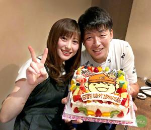 結婚を発表した広島・大瀬良と浅田真由