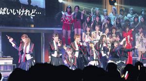 リクエストアワーに出演したNGT48のメンバー