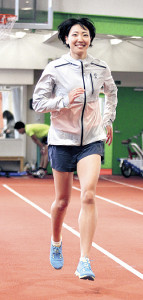 故郷の北海道で東京五輪に向け練習を始めた寺田(カメラ・小林 聖孝)