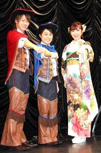 「はやぶさ」のヤマト(左)、ヒカルと岩佐美咲