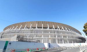 建設が進む新国立競技場