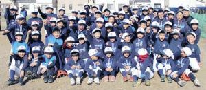 堺中央では約70人の選手が伸び伸びとした環境で野球を楽しんでいる