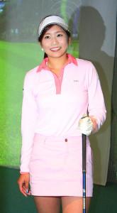 イベントに参加した女子ゴルファーの熊谷かほ