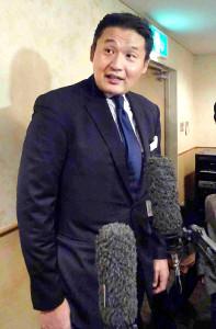 名古屋市内のホテルで取材に応じる元貴乃花親方の花田光司氏