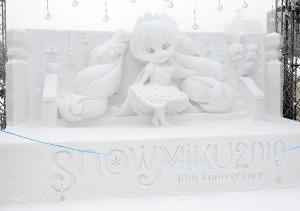 雪ミクの雪像