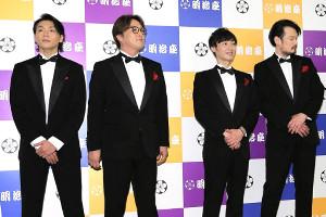 純烈(左から)白川裕二郎、リーダー・酒井一圭、後上翔太、小田井涼平