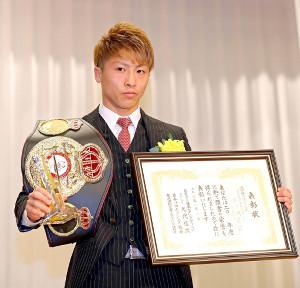 最優秀選手賞とKO賞の2冠に輝いた井上尚弥