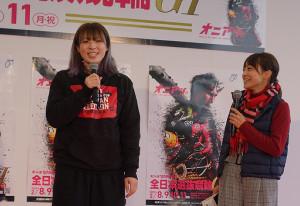 全日本選抜でトークショーを行った児玉碧衣(左)