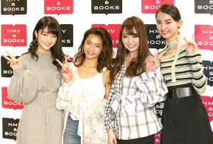 (左から)松川菜々花、遠山茜子、みうらうみ、黒木麗奈