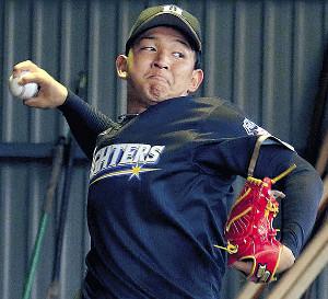 力強い投球で調整を続ける日本ハム・柿木