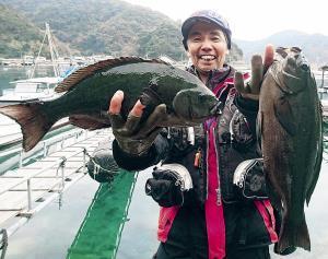愛媛・竹ケ島の磯で大型グレの引きを満喫した矢部さん