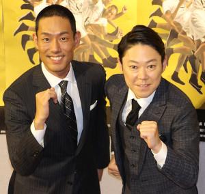NHK大河ドラマ「いだてん~東京オリムピック噺~」主演コンビの中村勘九郎(左)と阿部サダヲ