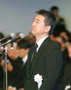 堺屋太一さんの葬儀・告別式で弔辞を読む橋下徹氏