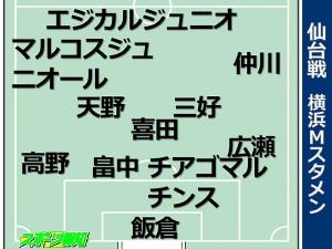 横浜M先発布陣