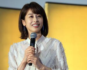 6日に行われたフジテレビの4月番組改編会見で笑顔を見せる加藤綾子アナウンサー