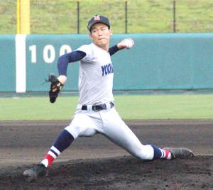 練習試合で5回1安打無失点6奪三振と好投した横浜・及川