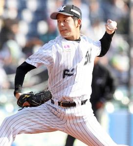8回に登板、1安打も無失点に抑えたロッテ・永野将司