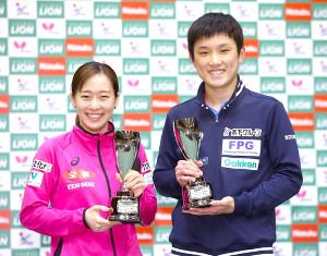 世界選手権個人戦混合ダブルスでペアを組む張本智和と石川佳純