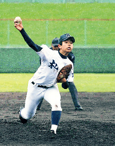 17年春の札幌地区代表決定戦で完封した井沢