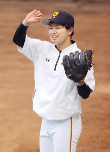 16日のヤクルト戦に登板する巨人・高田