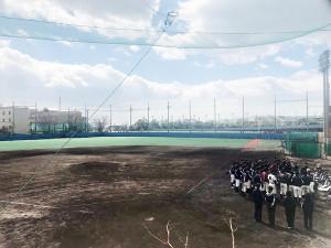 関学大準硬式野球部が練習する同大学の第2フィールド