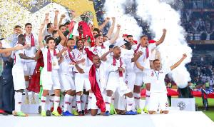 アジア杯を優勝し、歓喜するカタールイレブン