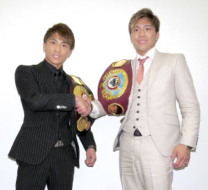 WOWOWで対談した伊藤雅雪(右)と井上尚弥(左)